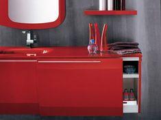 Modern Red Bathroom Furniture by Artesi
