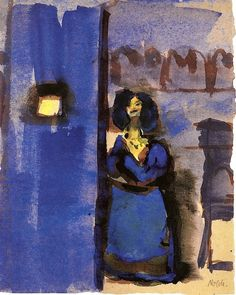 Woman Waiting, Emile Nolde