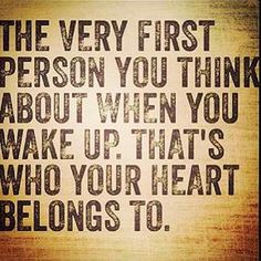 One day I'll wake up and know my heart is in a good place.