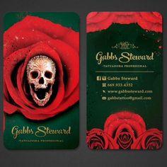 Tarjetas de presentación tattoo www.gabbssteward.com