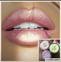 Fire Opal, Pink Champagne, Gold Glitter Gloss LipSense Distributor 197061 www.SeneGence.com/TimelessEleganceByTara