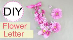 letters in flowers - Google Search