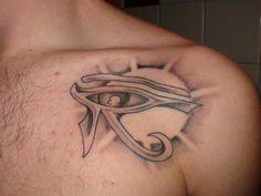 Eye of ra, Egyptian tattoo and Eye of horus on Pinterest