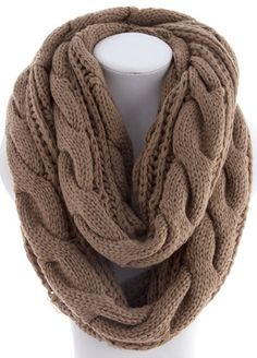 Soft Cable Knit Infinity Scarf - Mocha, Black, Ivory or Wine Wholesale Fashion, Wholesale Clothing, Hand Knit Scarf, Online Clothing Boutiques, Womens Scarves, Cable Knit, Trending Outfits, Infinity, Tejidos