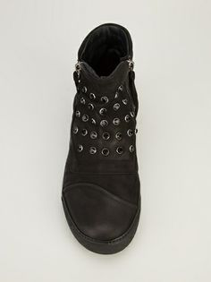 BRUNO BORDESE - black studded anckle boots trainers   #brunobordese #black #blackshoes #blackboots #shoes #brunobordeseshoes #anckleboots #trainers
