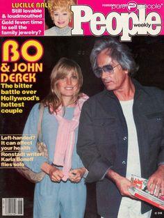 Linda+Evans+Bo+Derek | Bo et John Derek en couverture de People , en février 1980.