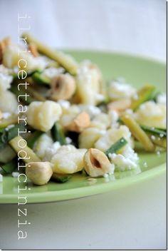 Gnocchi with zucchini feta cheese and hazelnuts  Gnocchi con zucchine feta e nocciole