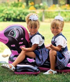 Starting young: Mary-Kate and Ashley first became household names before they could even talk when at six-months-old they were cast to play Michelle Tanner on Full House before starring a host of films.