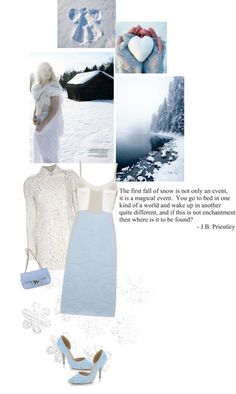 """""""Snow Enchantment"""" by texaspinkfox ❤ liked on Polyvore"""