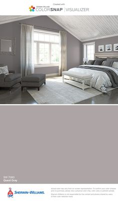 I found this color with ColorSnap® Visualizer for iPhone by Sherwin-Williams: Quest Gray (SW 7080).