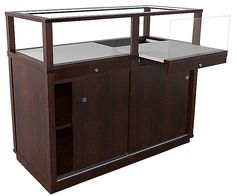 See our newly design jewelry display cases with pull out decks and storage. This product is elegant meets functional - a love of all business owners!
