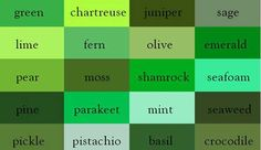 50 Shades of Green... and One Shade of Blue