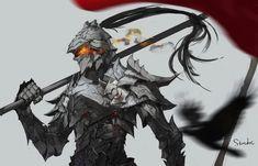 Fantasy Art Warrior, Fantasy Armor, Medieval Fantasy, Dark Fantasy Art, Fantasy Character Names, Fantasy Characters, Character Concept, Character Art, Armor Concept
