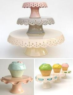 Love pretty cake stands by priscilla