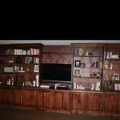 Wall to wall entertainment center