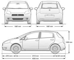 Fiat Grande Punto, Car Sketch, Evo, Cars And Motorcycles, Automobile, Vehicles, Wheels, Garage, Sketches