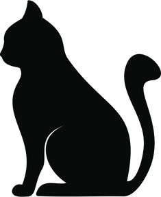These are actually free applique patterns, but I'd love to do something for Halloween with this cat (garland?) There's also directions on how to applique, if the mood strikes! Silhouette Chat, Animal Silhouette, Silhouette Images, Black Silhouette, Applique Patterns, Quilt Patterns, Cat Quilt, Scroll Saw Patterns, Cat Crafts