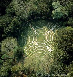 Birds eye view of labyrinth