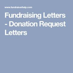 Sample Donation Request Letter To A Company  Fundraising Social