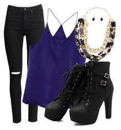 """Untitled #1133"" by patriciaplazz ❤ liked on Polyvore featuring H&M and NightOut"
