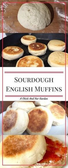 Sourdough English Muffins I LOVE my sourdough starter! This english muffin recipe is so good and so easy! You'll never buy them from the super market for your breakfast again! Bread Recipes, Baking Recipes, Starter Recipes, Baking Tips, Kitchen Recipes, Cake Recipes, Sourdough English Muffins, Sourdough Bread Starter, Homemade English Muffins
