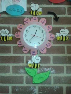 a smart clock educatie Classroom Board, Classroom Displays, Primary School, Pre School, Math Resources, Preschool Activities, Math Clock, Creative Writing Ideas, Learning Time
