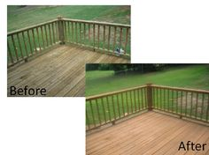 deck refinishing-  pretty pleased with the results... #home #diy