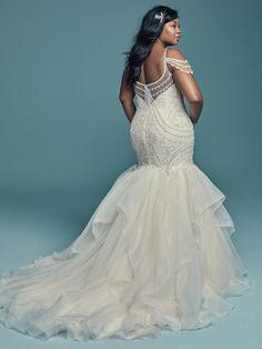 57dfded076ed Cold Shoulder Sweetheart Neckline Beaded Bodice Organza Skirt Mermaid Wedding  Dress. Sweet Wedding DressesMaggie Sottero ...