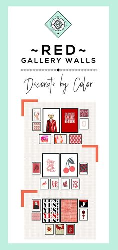 Red Theme Gallery Wall: Decorate by Color