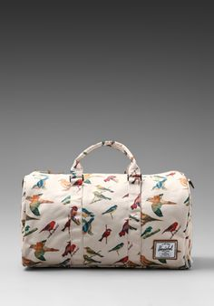 Shop for Herschel Supply Co. Bad Hills Workshop Novel Duffle in Watercolored Bird Print at REVOLVE. Workshop, Herschel Supply Co, Bird Prints, Revolve Clothing, Beautiful Bags, Luggage Bags, Bag Making, Purses And Bags, Fashion Accessories