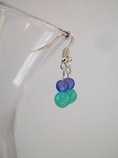 Short Drop Blue Turquoise Small Drop Earrings by FreeRangeLondon, £5.00