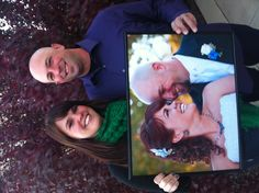 Our One Year Anniversary Picture.....take a picture every year holding the previous years picture!!!