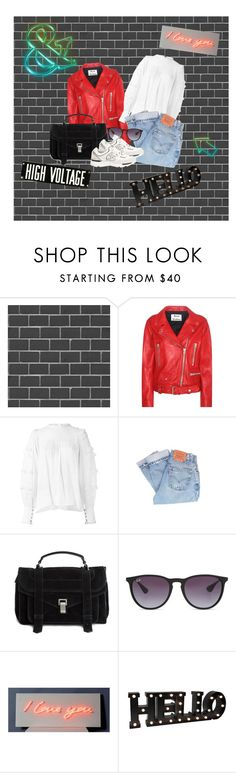"""""""Outfit #19"""" by liva-haarup ❤ liked on Polyvore featuring Debbie McKeegan, Acne Studios, Isabel Marant, Levi's, Proenza Schouler, Ray-Ban and Threshold"""
