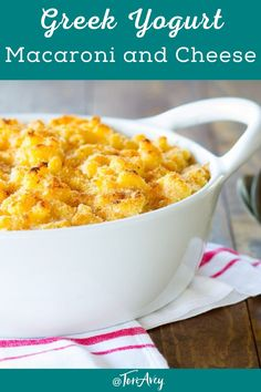 Greek Yogurt Macaroni and Cheese - Lightened-up comfort food! Healthier vegetarian mac and cheese recipe with a smoky, crispy breadcrumb topping. A yummy side for Sukkot. #macandcheese #greekyogurt #healthy #thanksgiving #comfortfood Vegetarian Mac And Cheese, Mac And Cheese Healthy, Crockpot Mac And Cheese, Macaroni N Cheese Recipe, Cheese Recipes, Cooking Recipes, Healthy Recipes, Healthy Zucchini, Kosher Recipes