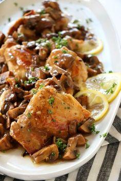 Chicken Thighs in Mushroom Sauce   Dash of Savory