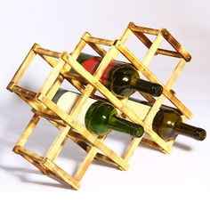 Folding Wood Wine Rack Alcohol Neer Care Drink Bottle Holders Solid Wood  Shelf Special New Cabinet Part 91
