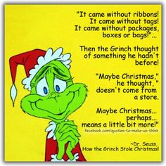 "Christmas has become so commercialized, I guess the Grinch had it right. Let's put the ""Reason back in the Season"""