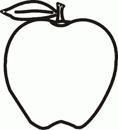 Maestra De Primaria Frutas Y Verduras Para Colorear Apple OutlineColoring Sheets