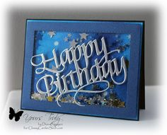 Starry Shaker Card by ClassyCards - Cards and Paper Crafts at Splitcoaststampers Handmade Birthday Cards, Happy Birthday Cards, Greeting Cards Handmade, Scrapbook Cards, Scrapbooking, Slider Cards, Window Cards, Interactive Cards, Shaped Cards