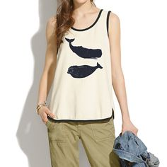 Obsessed with whales - Jungmaven® for Madewell Whale Ringer Tank