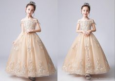 Royal Champagne 2020 Flower Girls Dresses For Wedding Off Shoulders 2020 Princess With Cap Sleeve Juniors Bridesmaid Prom Formal Dresses Latest Girl Dress Designs Latest Girls Dresses From Stunningdress88, $61.81| DHgate.Com Formal Prom, Formal Dresses, Wedding Dresses, Flower Girls, Flower Girl Dresses, Evening Dresses Online, Girls Pageant Dresses, Princess Girl, Toddler Dress