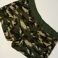 Camo shorts Excellent condition, NWOT camo shorts with drawstring waist. Zoey & Beth Shorts