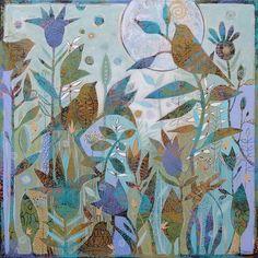 New 20x20 acrylic painting by Sue Davis.