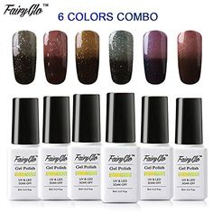 FairyGlo 6 PCS Thermal Color Changing Gel Polish UV LED Soak Off Chameleon Manicure Collection Magic Beauty Nail Art Gift Set New Fashion 8ml 0.27fl.oz C011 *** You can find out more details at the link of the image.