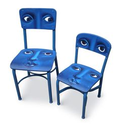 Faces on Chairs (original hand painted chairs) - product images