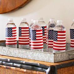 DIY 4th of July Water Bottles