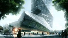 Morphosis Breaks Ground on Shenzhen Office Tower,Plaza. Image © Luxigon, courtesy of Morphosis Architects