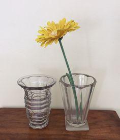 lasiset kukkamaljakot . korkeus 17 ja 18cm . @kooPernu