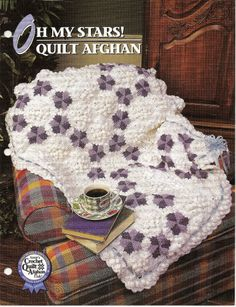 Oh My Stars Quilt Afghan Crochet Pattern Annies Crochet Quilt Afghan Club  #AnniesAttic