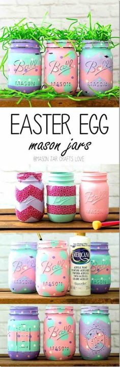 Easter egg MEaster egg Mason jar tutorial, Easter decoration ideas, Easter decor DIY Easter decor. Add your desserts to it. Colourful Mason jar. Perfect as part of a gift or party decor. Easter egg crafts. Mason jar DIY art.ason jar, Easter decoration ideas, Easter decor DIY Easter decor